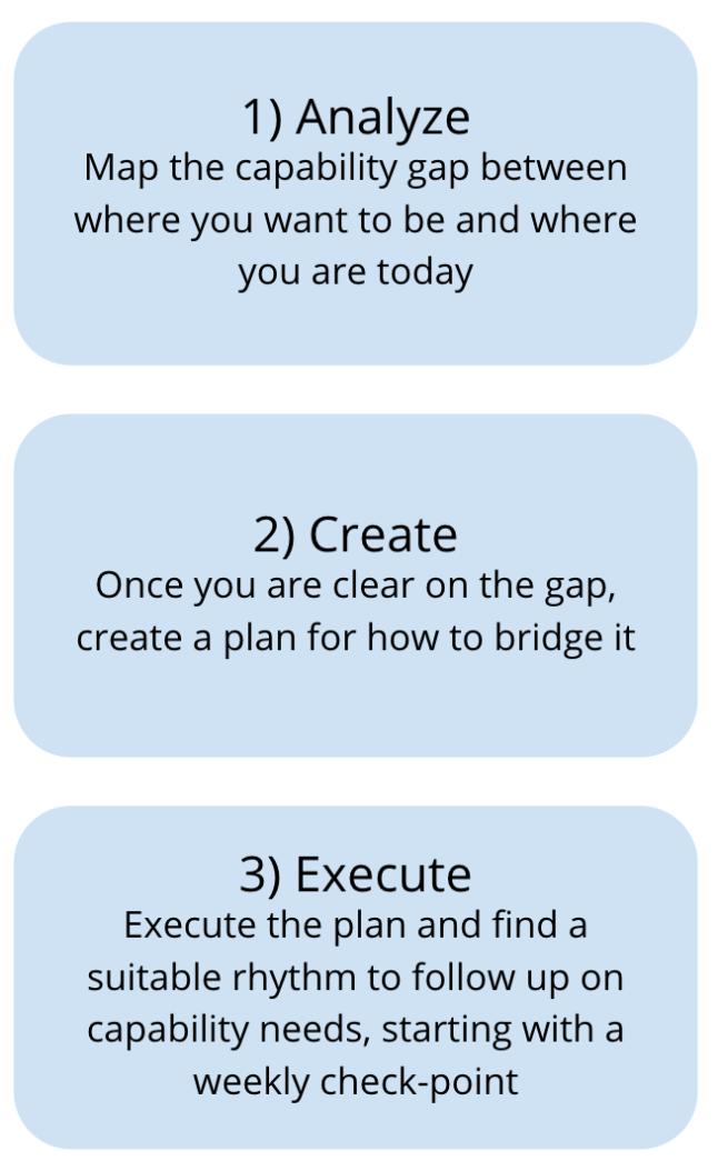 Capability 3 steps